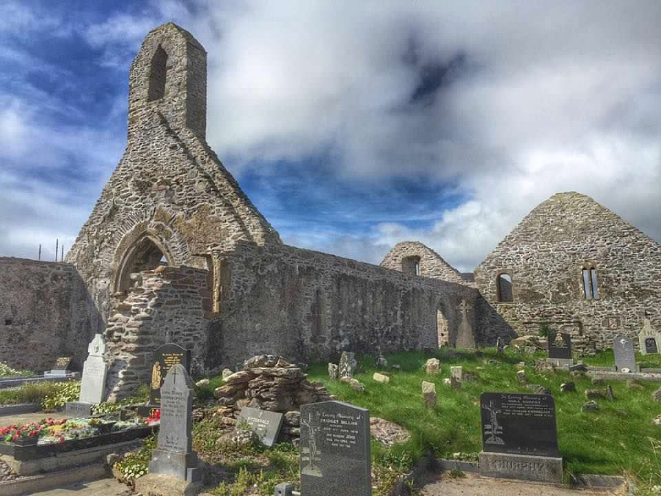 Ballinskelligs Abbey in Ireland