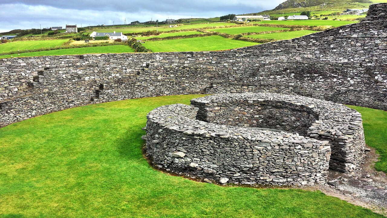 Cahergall Stone Fort in Ireland
