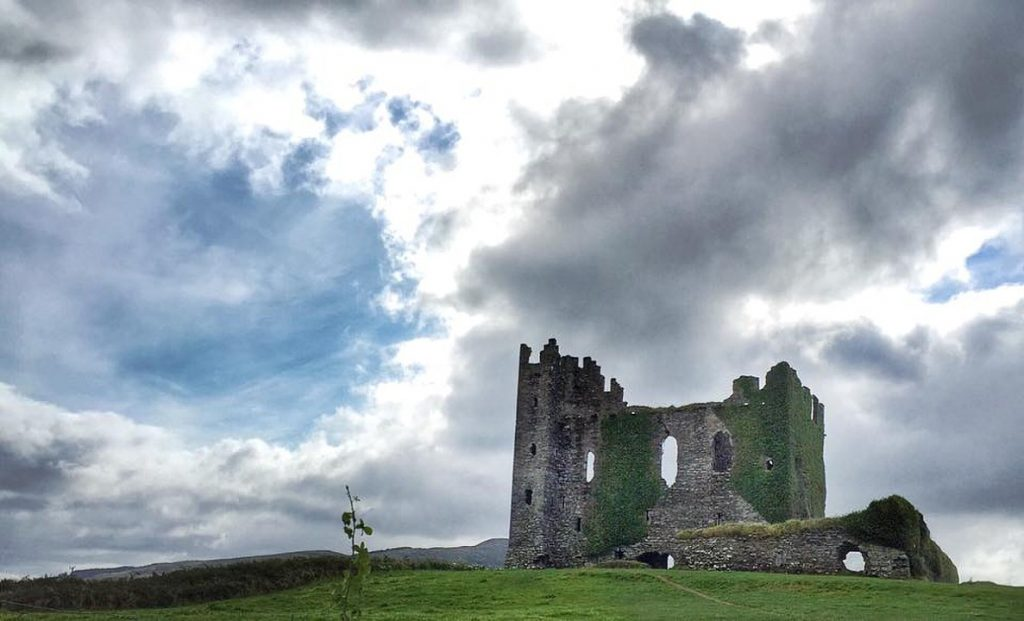 Ballycarbery Castle on Ring of Kerry in Ireland