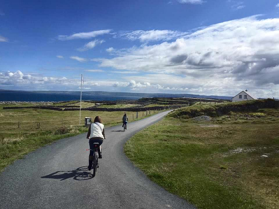 Bicycling in Aran Islands in Ireland
