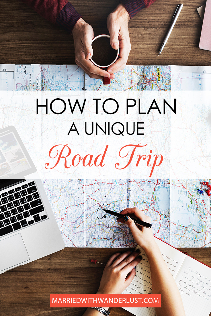 How to plan a unique road trip pinterest image