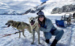 Kristy Williford dog sledding in Alaska