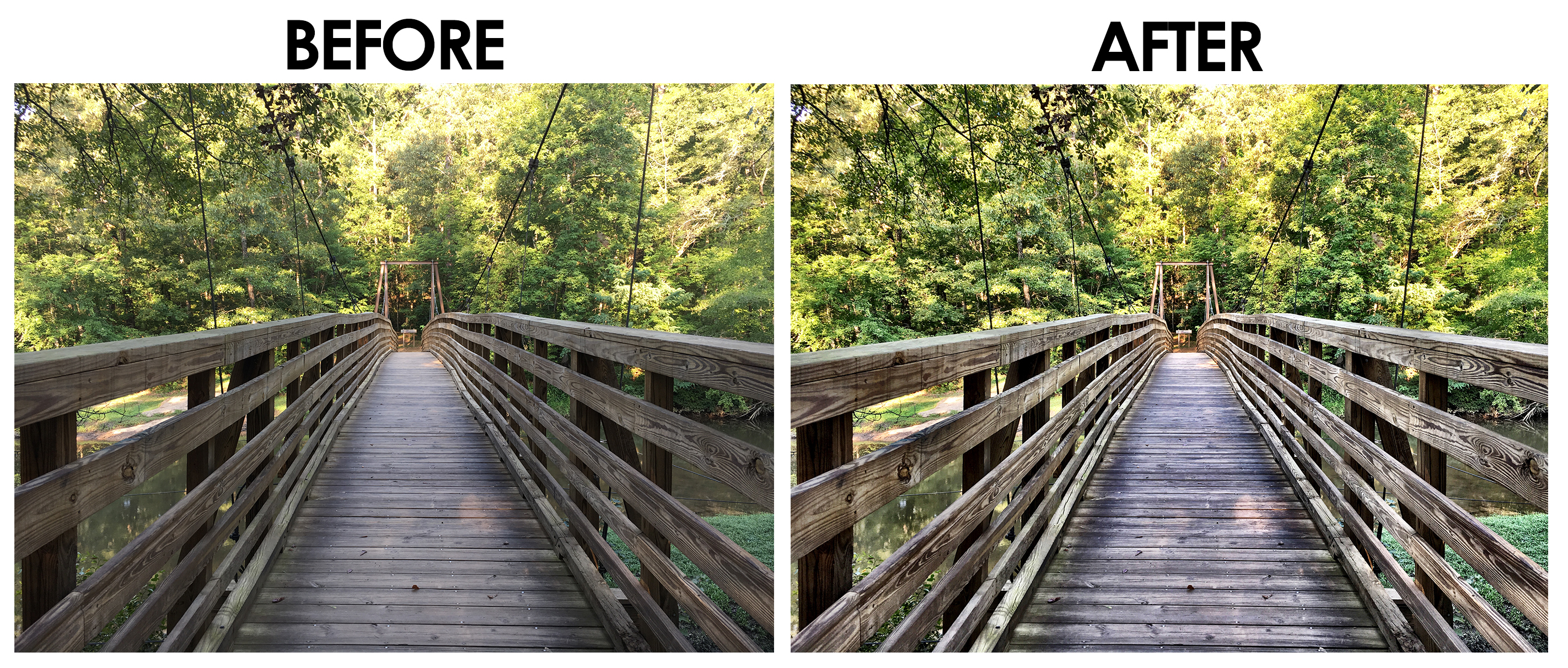 Bridge Before and After - Camera+ Photo App