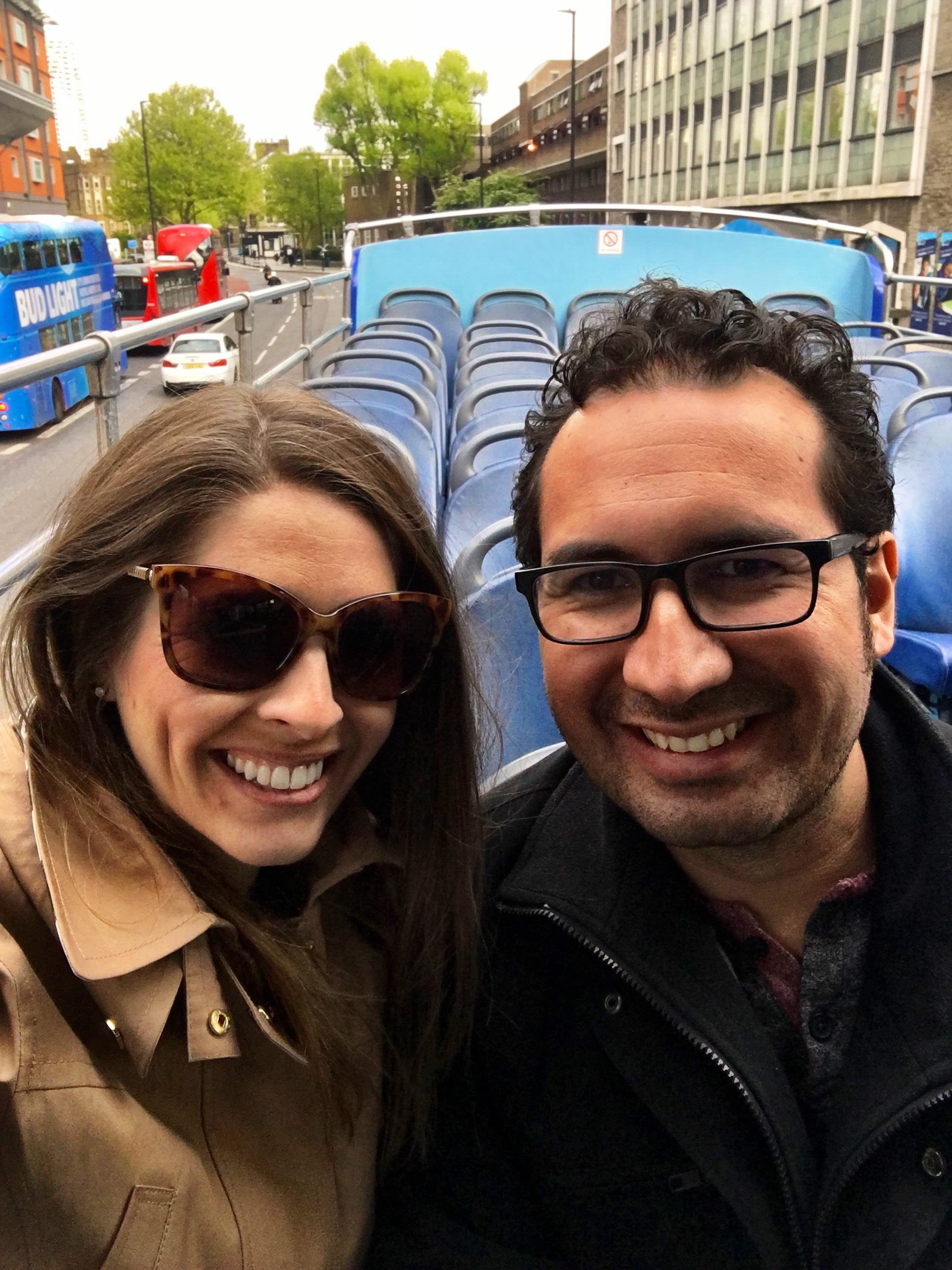 Double decker bus tour in London