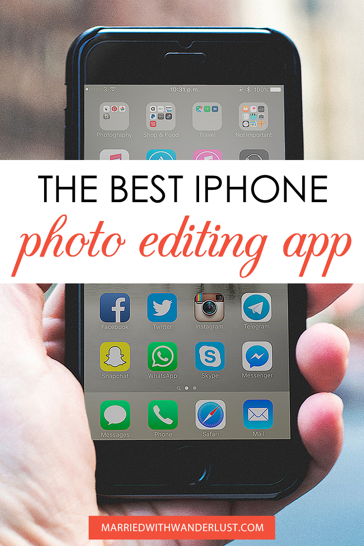 IPhone Photo Editing App Pinterest Image