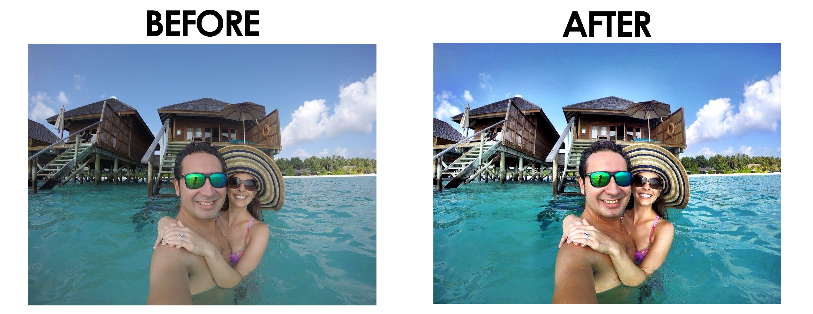 Maldives Before and After - Camera+ Photo App