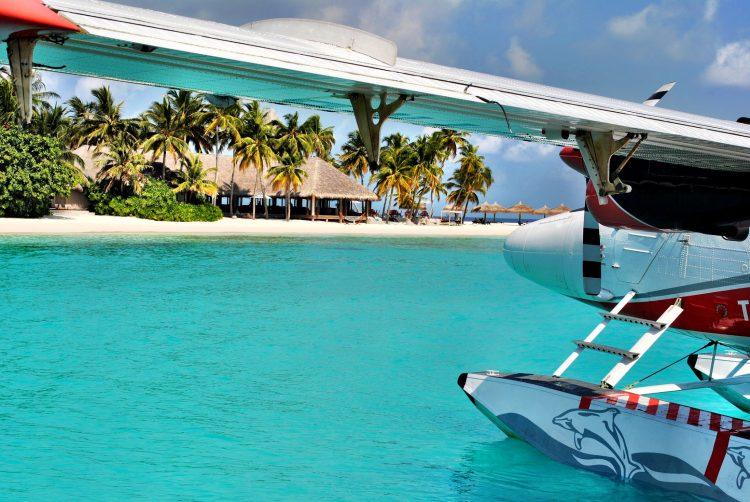 Maldives - Seaplane and Veligandu Island