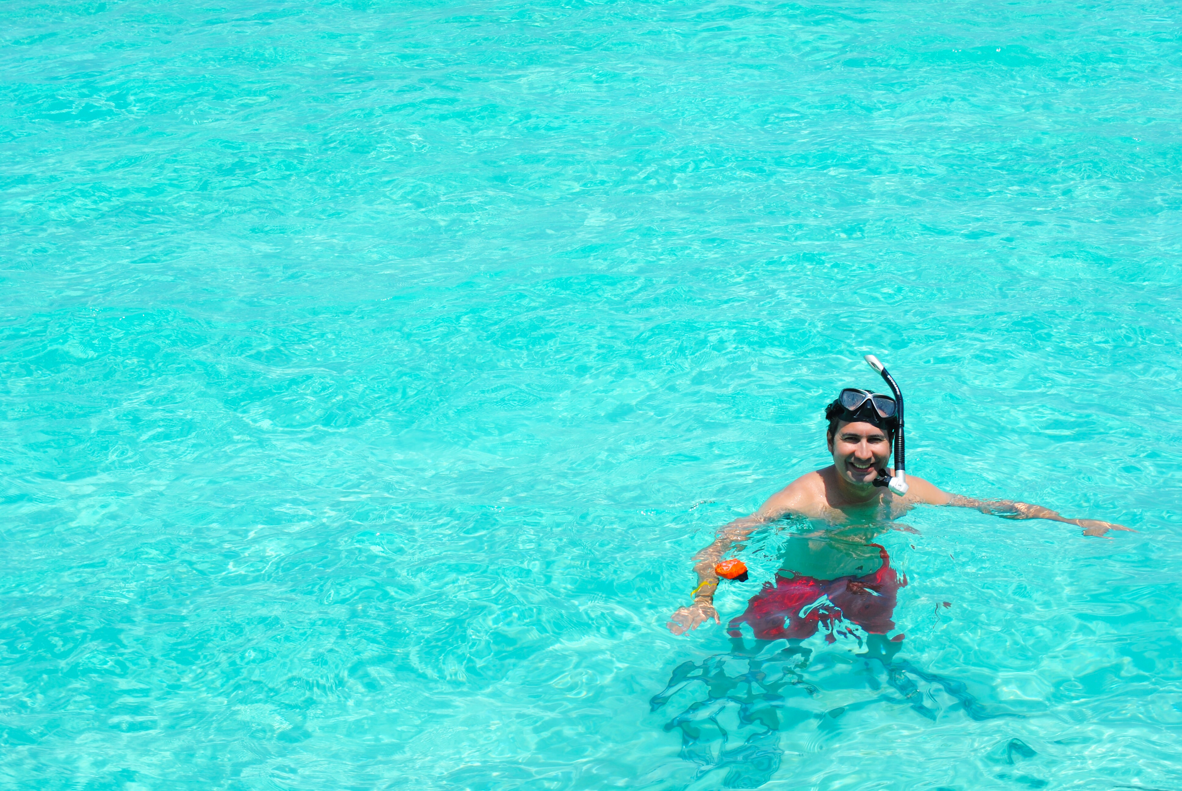 Swimming in the Maldives