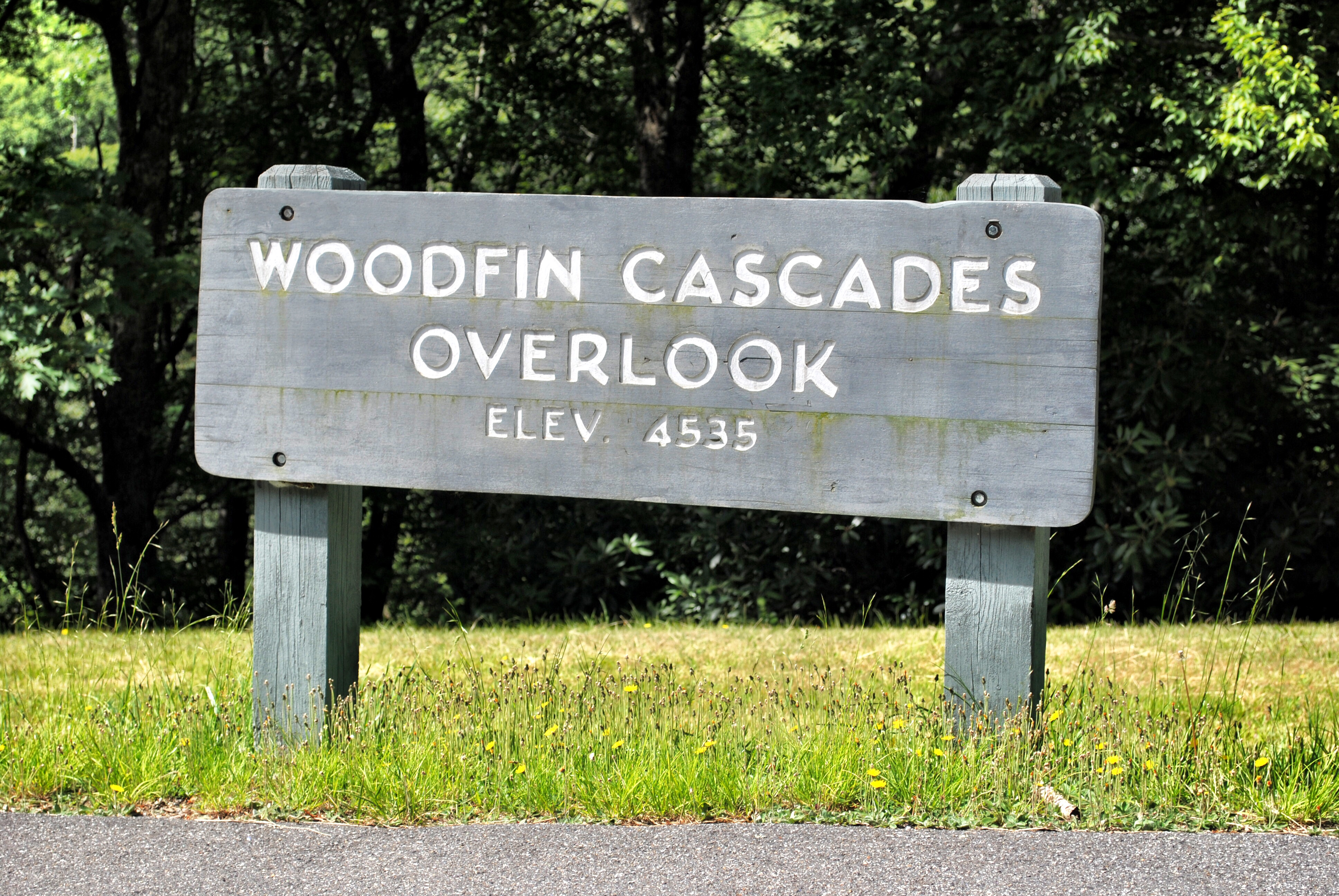 Woodfin Cascades Overlook in North Carolina