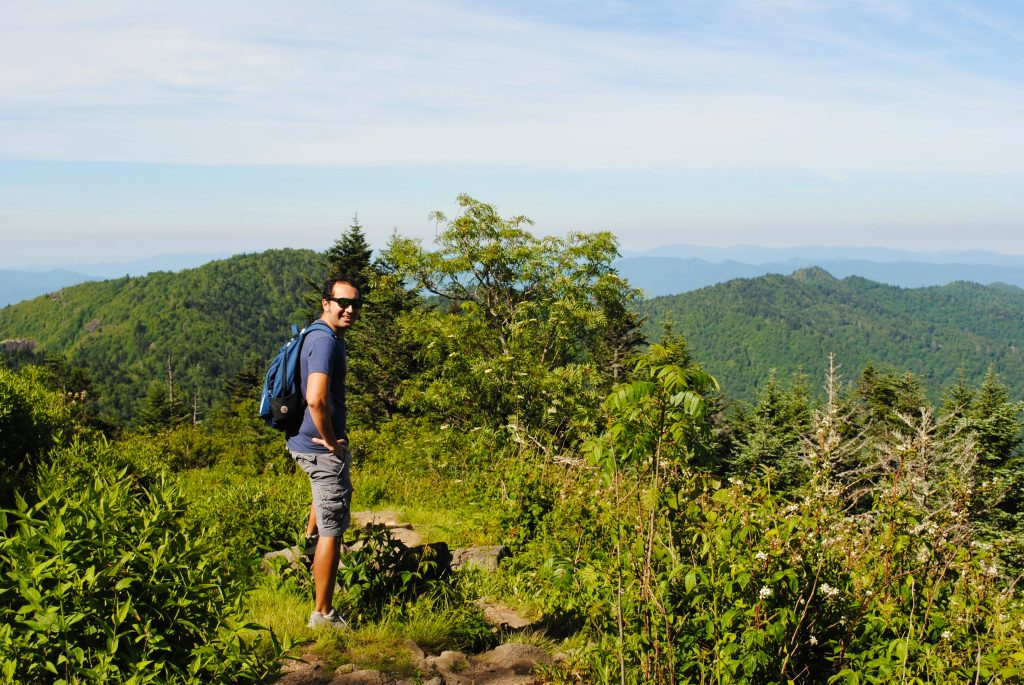 Hiking in North Carolina's Blue Ridge Mountains