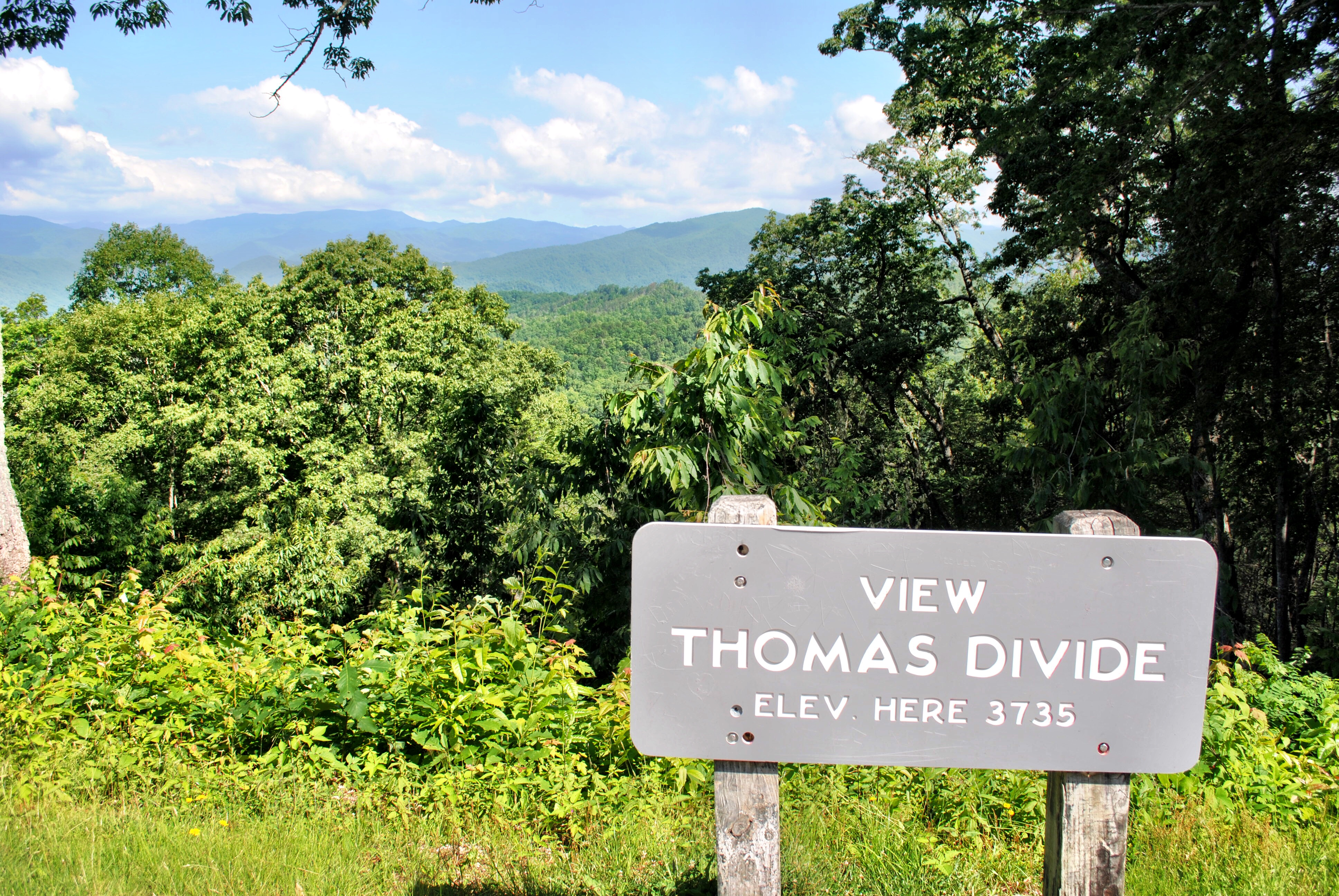 Thomas Divide View in North Carolina