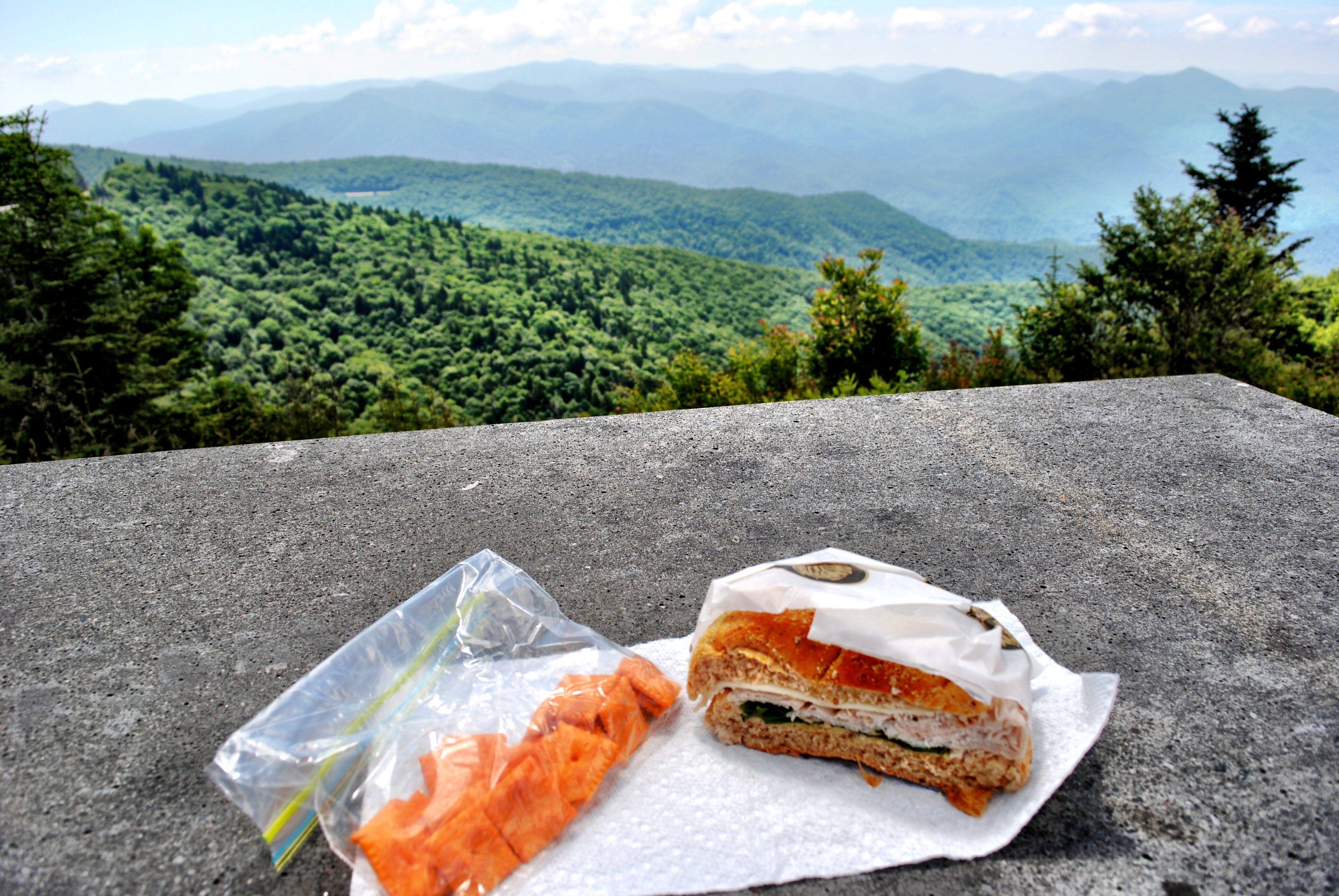 Lunch at Waterrock Knob in North Carolina