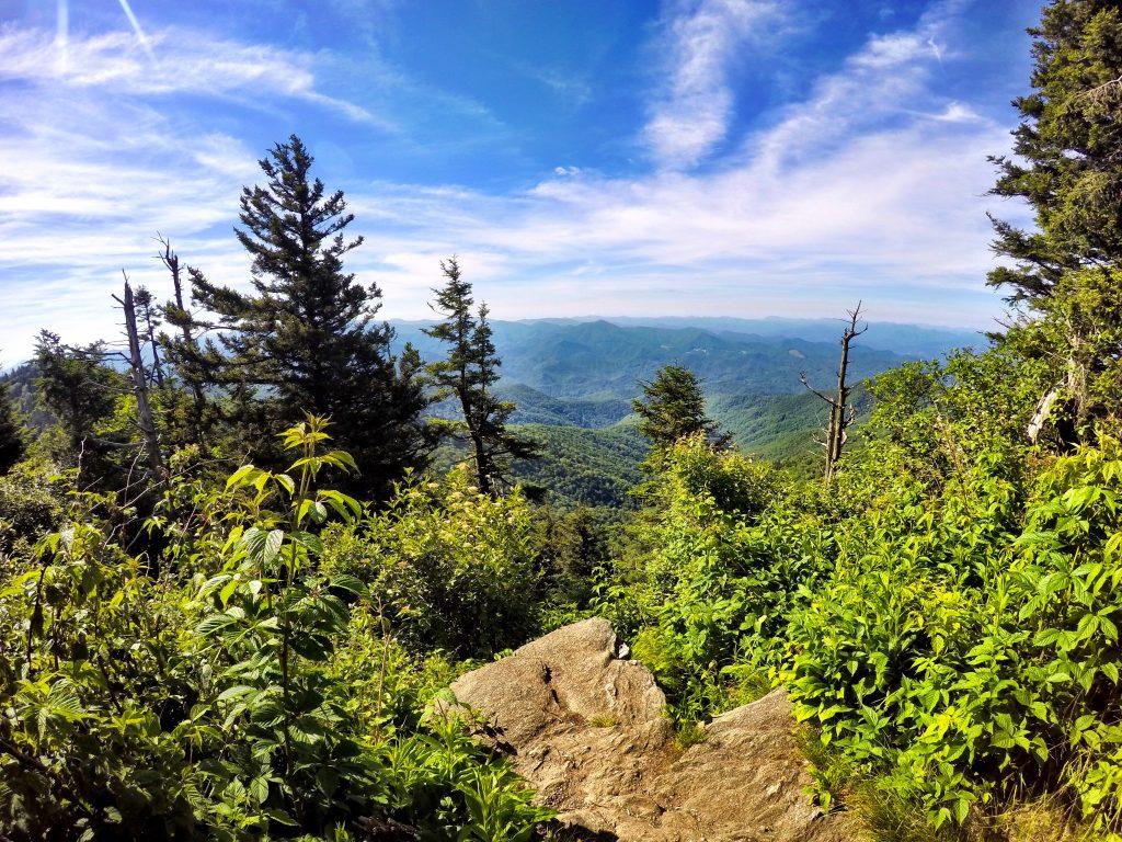 Waterrock Knob overlook in North Carolina