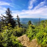 Waterrock Knob overlook in North Carolina