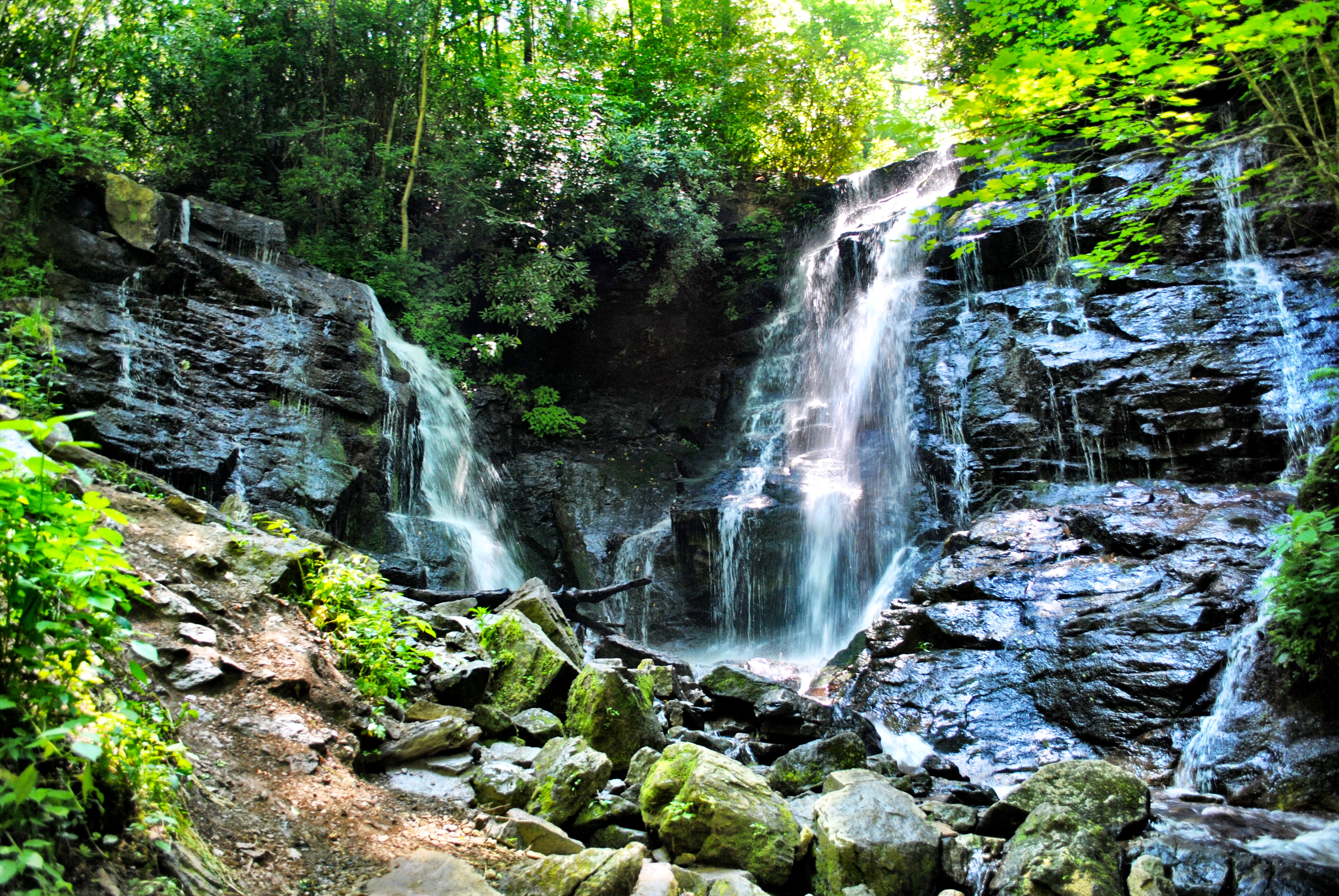Soco Falls in Cherokee North Carolina