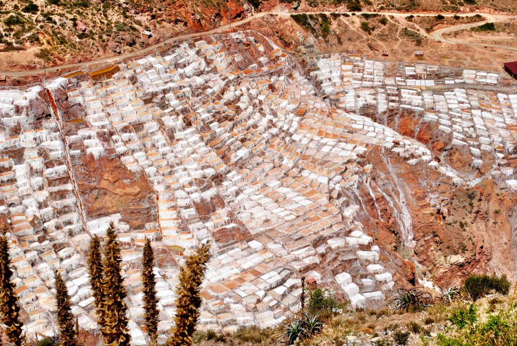 Maras Salt Mines - View from Above - Sacred Valley