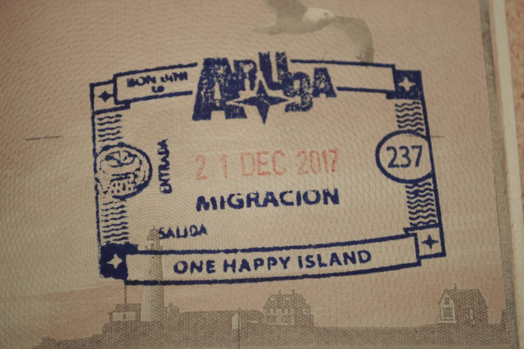 Aruba Passport Stamp 2017
