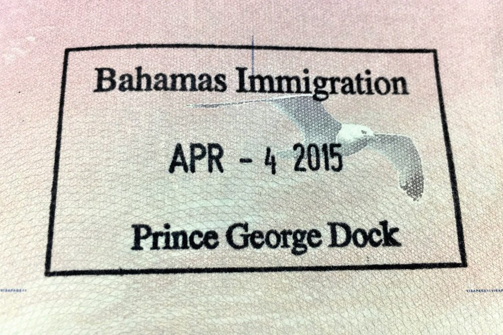Bahamas 2015 Passport Stamp