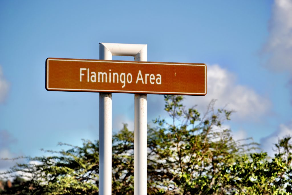 Curacao - Flamingo Area Sign