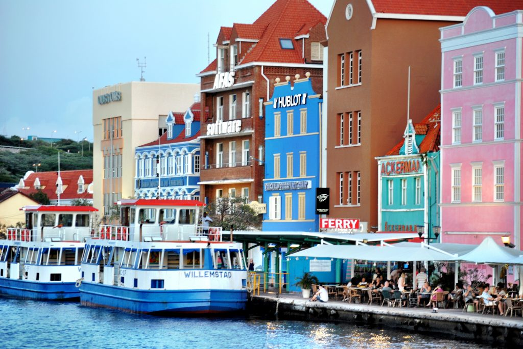 The colorful town of Willemstad, Curacao