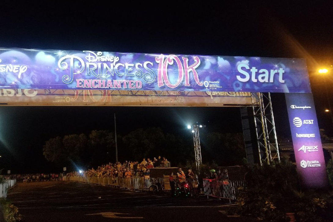 Disney Race - Enchanted 10K Start Line