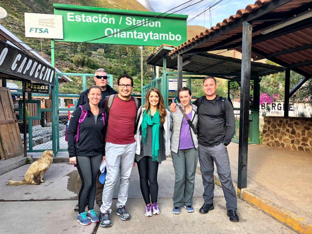 Ollantaytambo Station for the Train to Machu Picchu