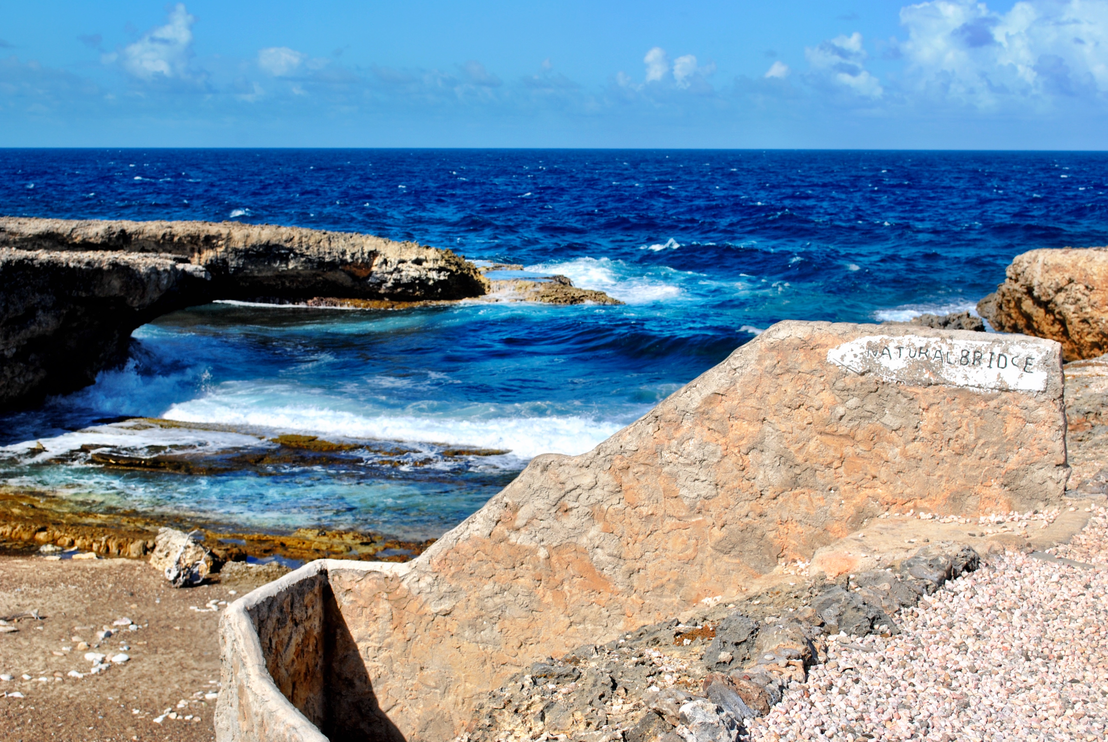 Natural Bridge View at Shete Boka National Park in Curacao