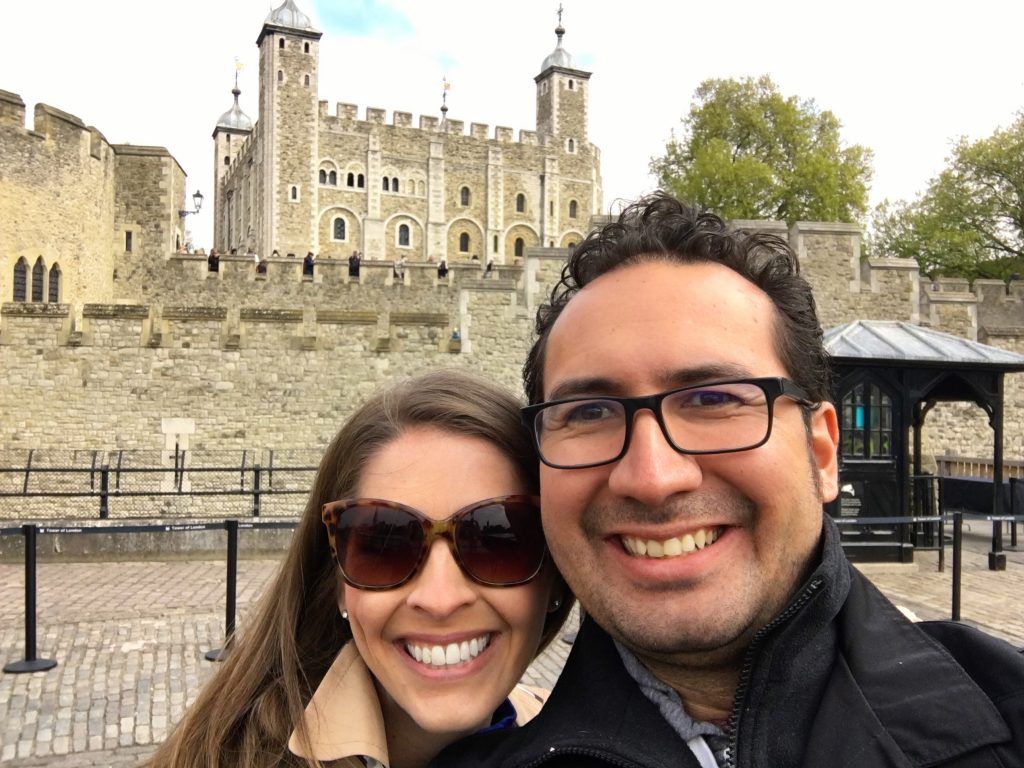 Kristy and WC at the Tower of London