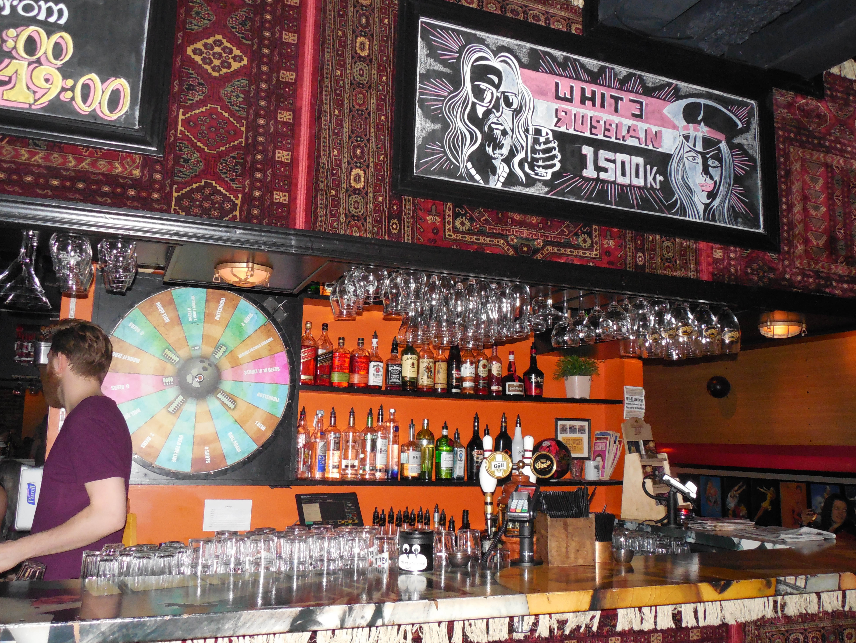 Lebowski Bar in Reykjavik, Iceland