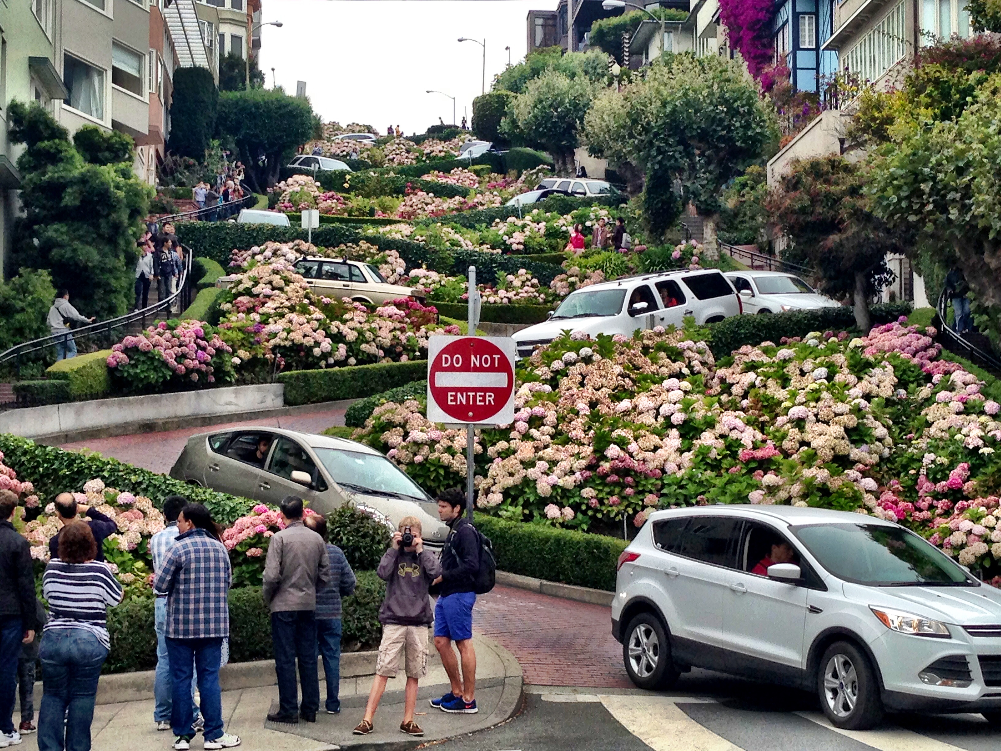 Visiting Lombard Street in San Francisco