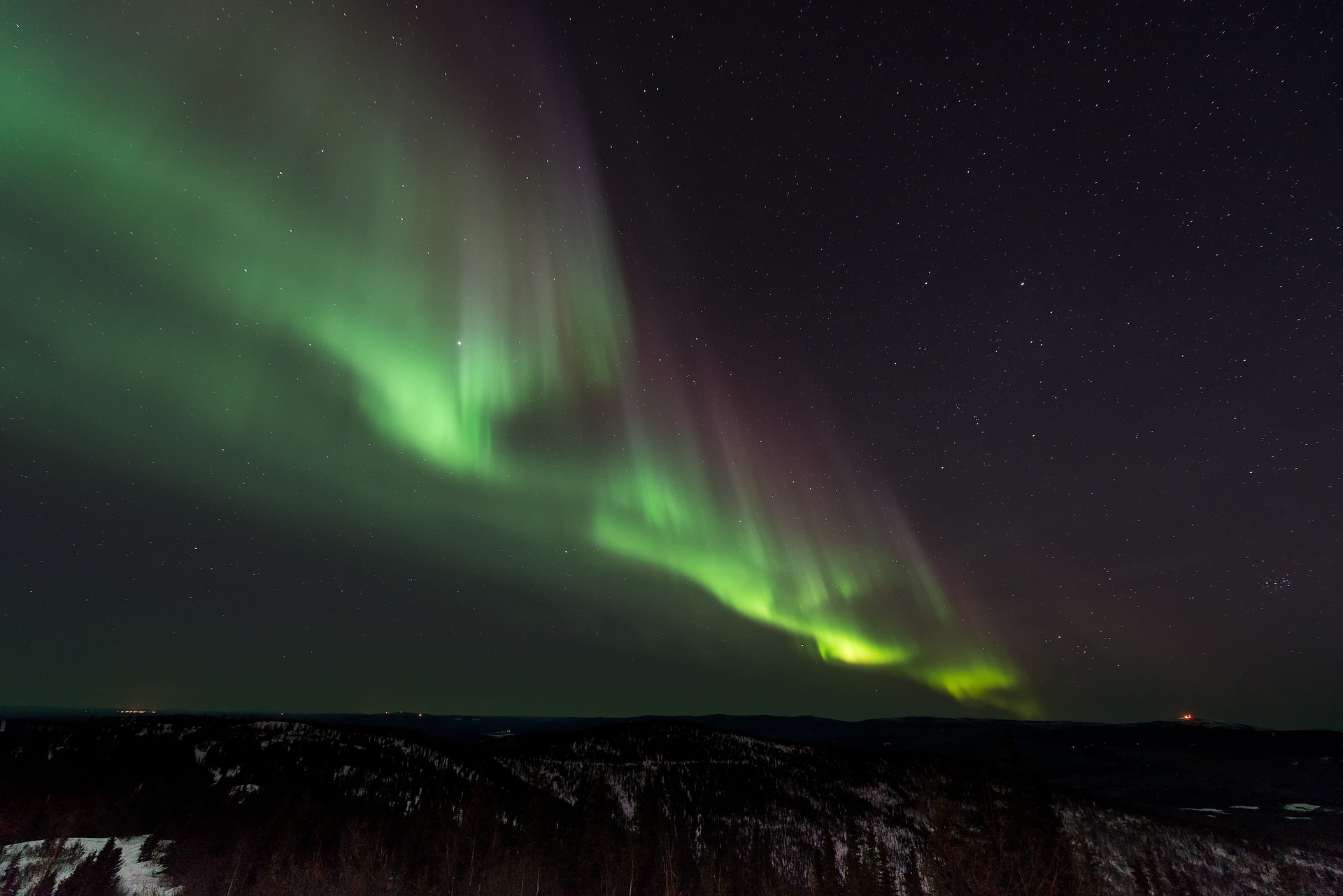 Aurora in Reykjavik, Iceland