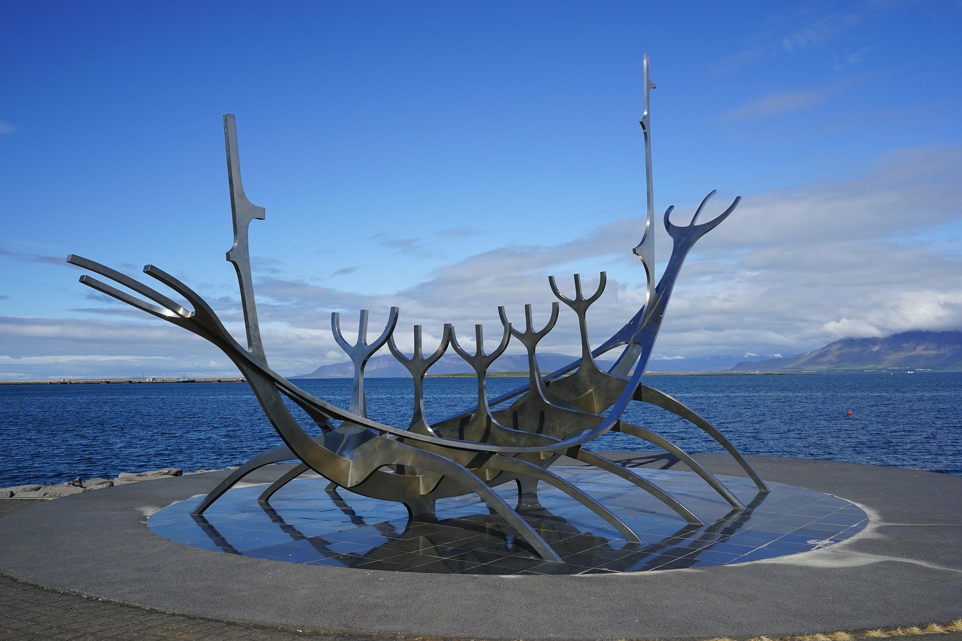 Sólfarið (The Sun Voyager) in Reykjavik, Iceland