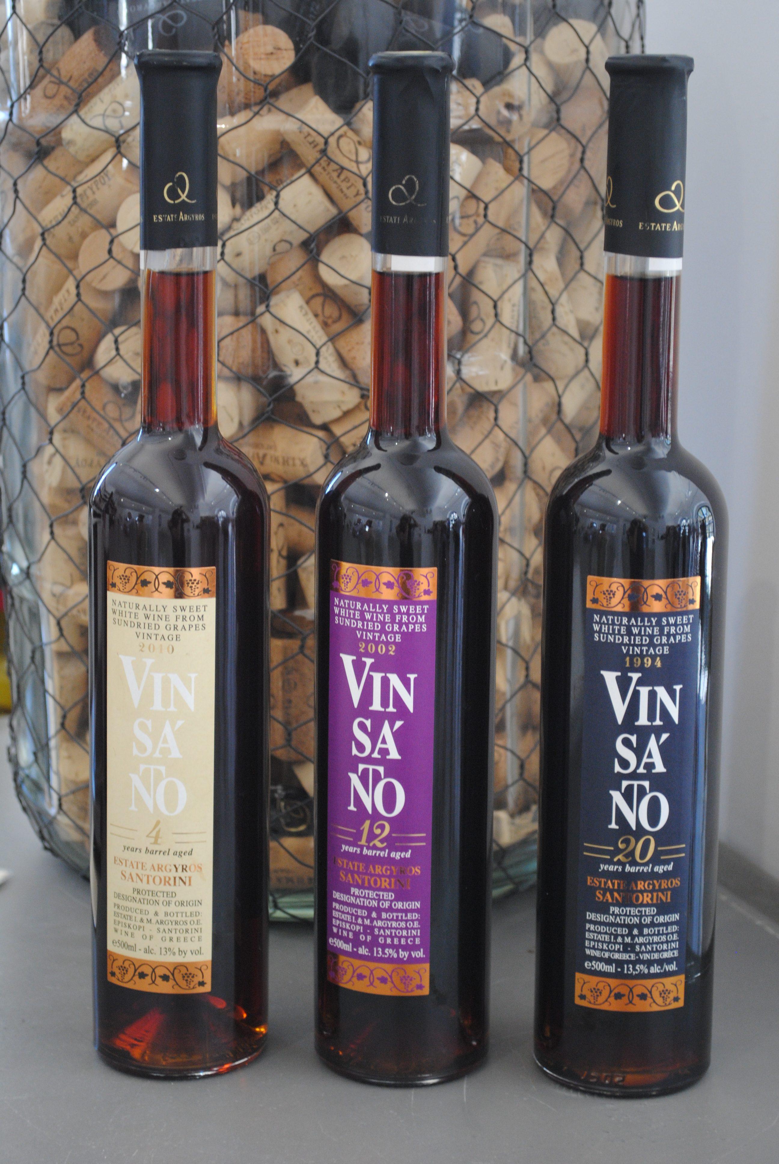 Vinsanto wine tasting in Santorini