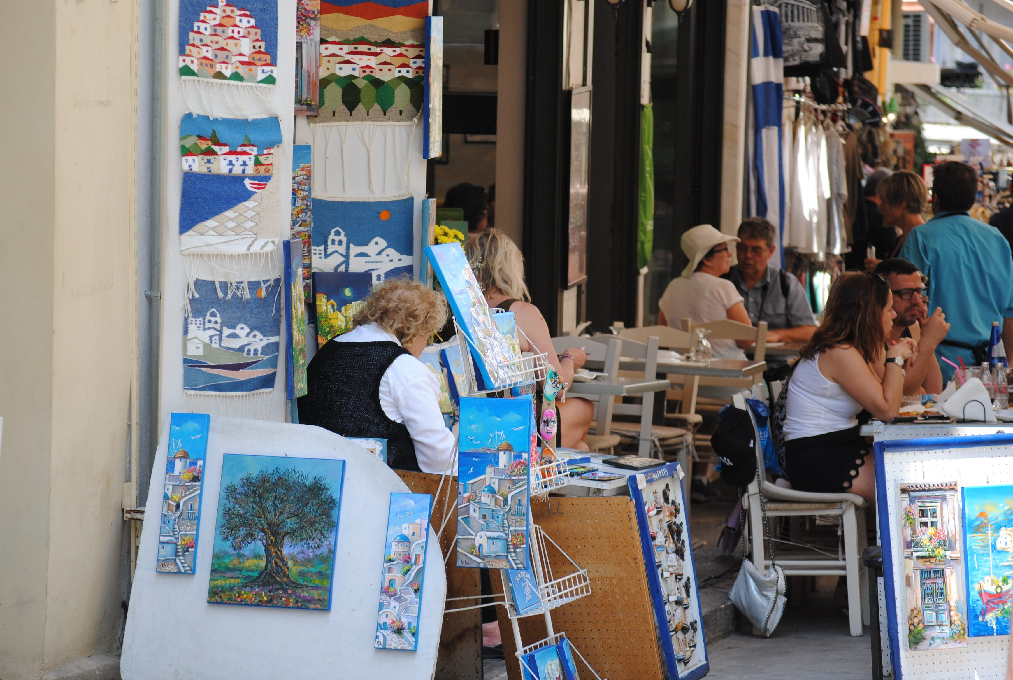 Go shopping in Plaka in Athens, Greece