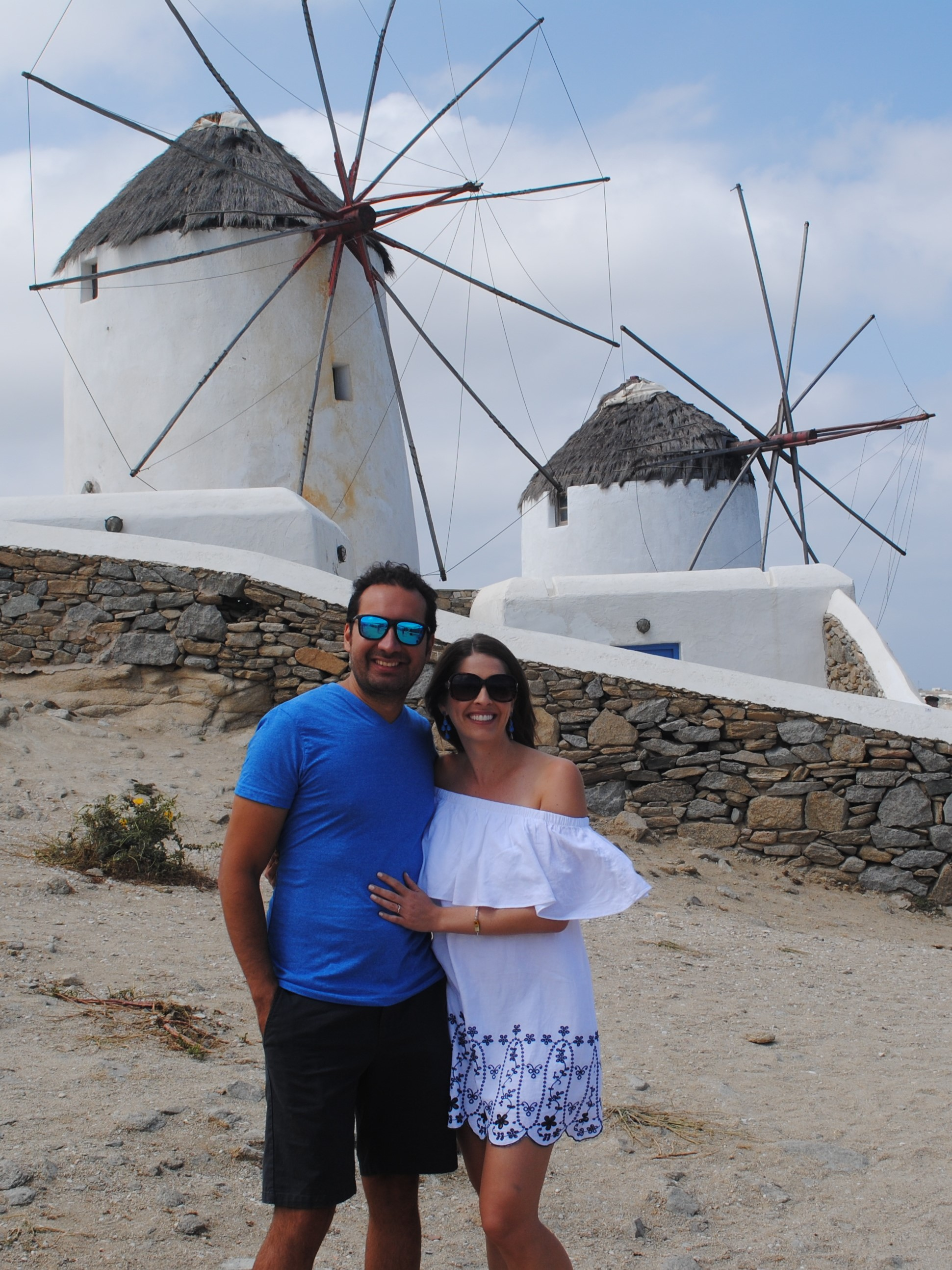Checking out the windmills in Mykonos