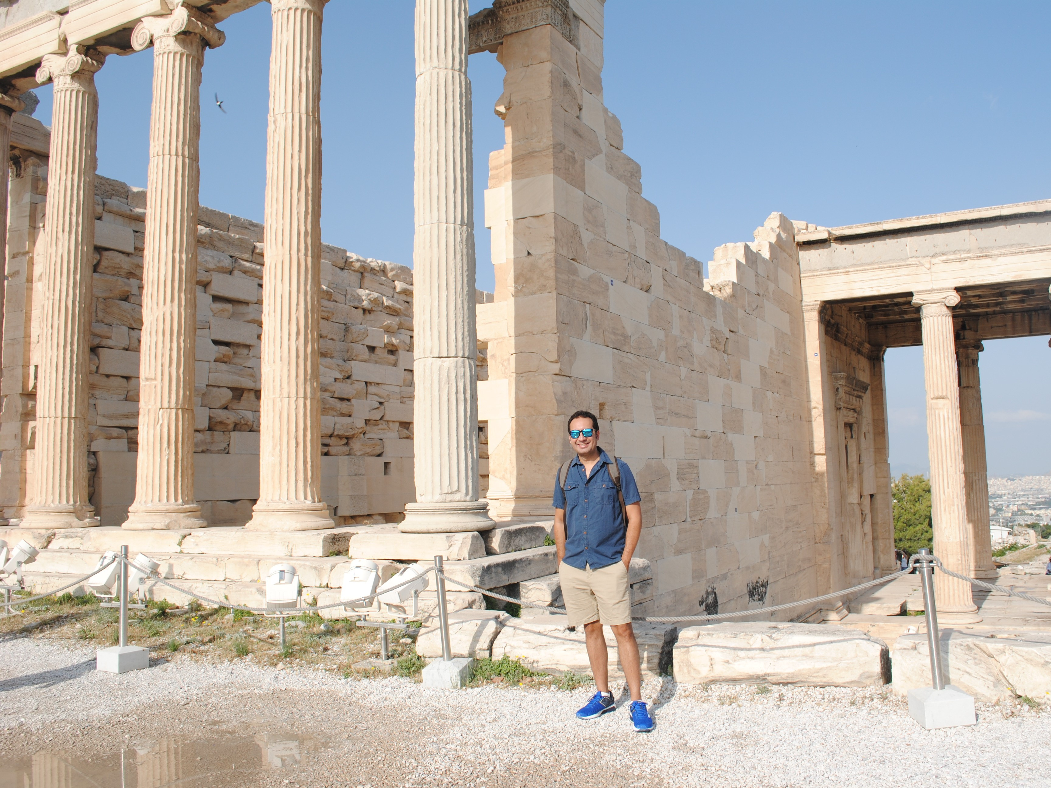 Arrive early to the Acropolis in Athens, Greece