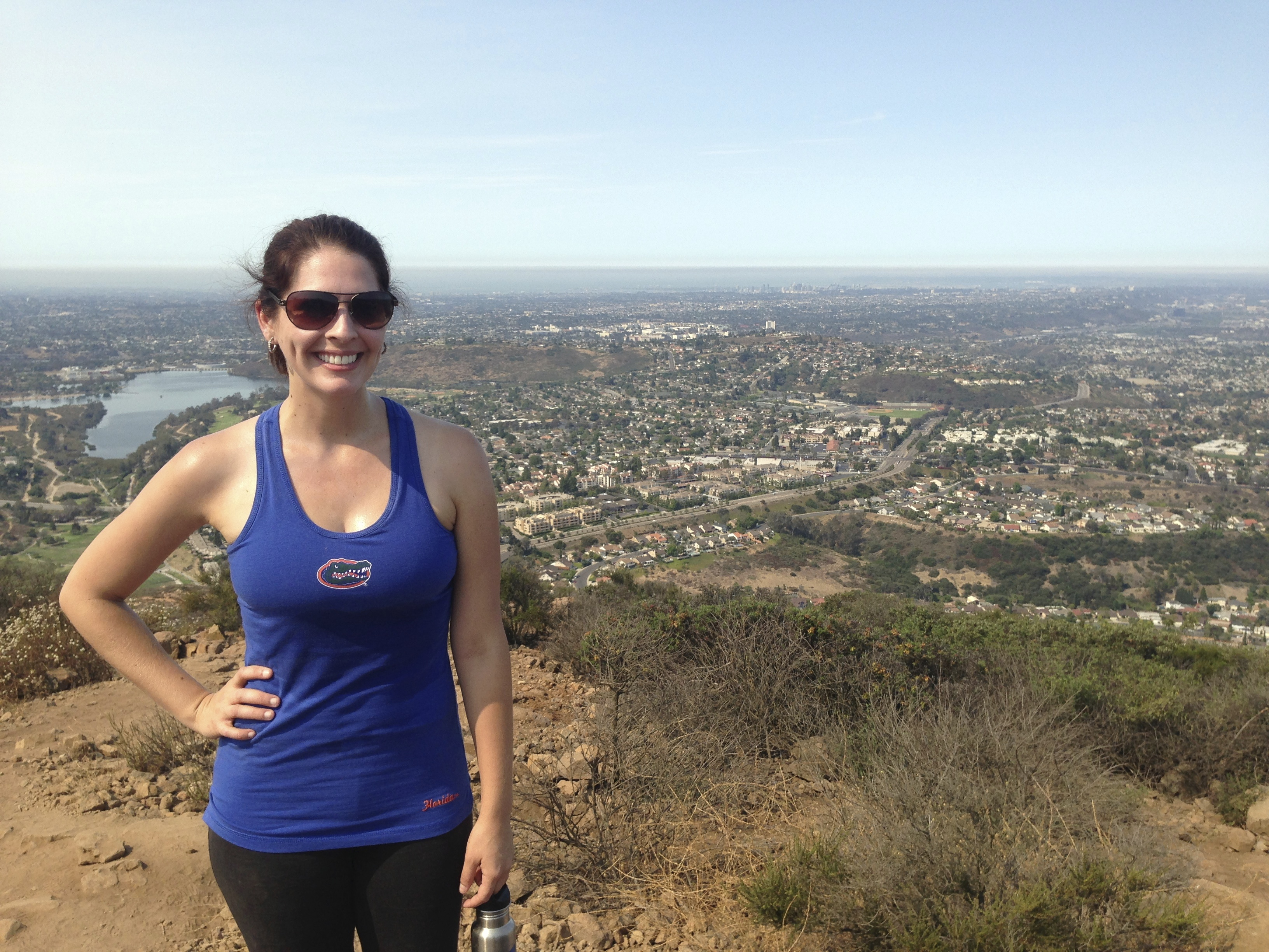 Go hiking at Cowles Mountain in San Diego, California