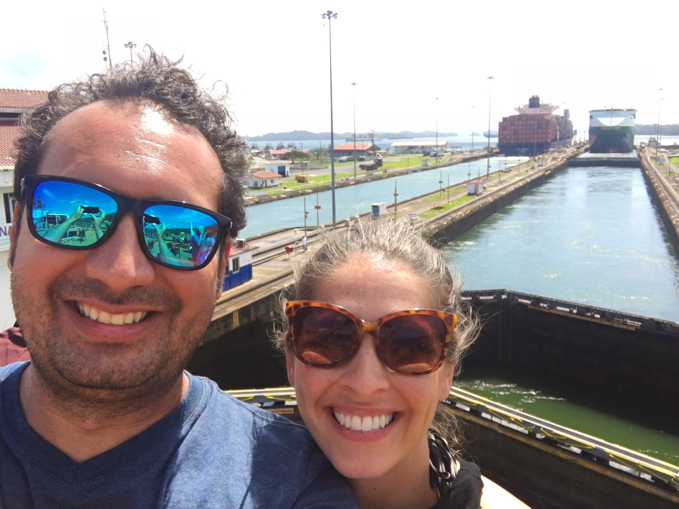 Married with Wanderlust Travel Bloggers in the Panama Canal
