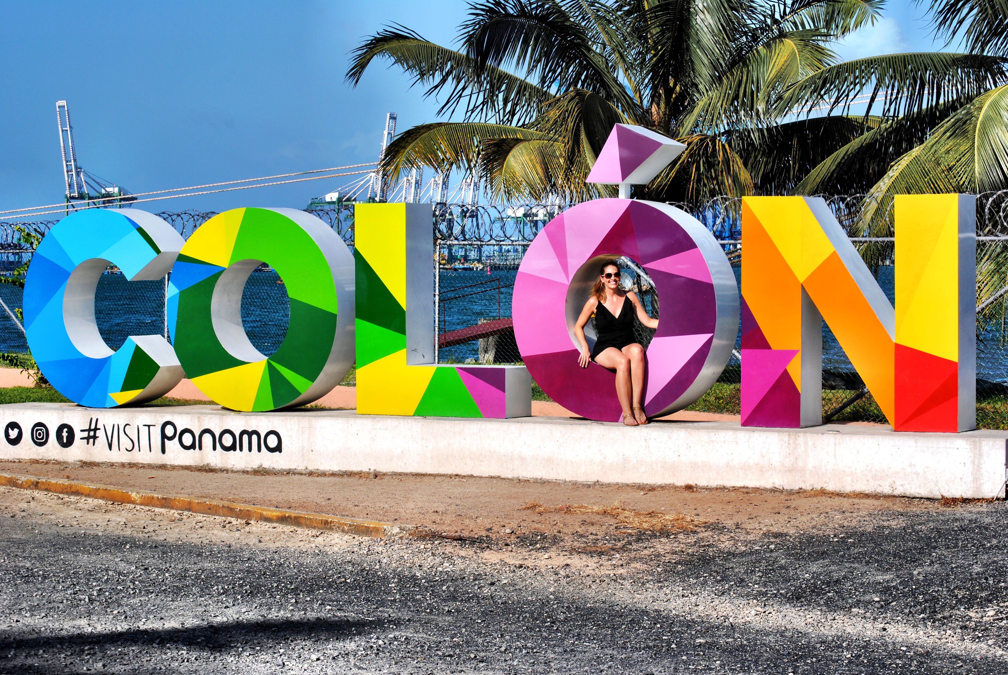 Take Your Photo in the Sign in Colon, Panama!