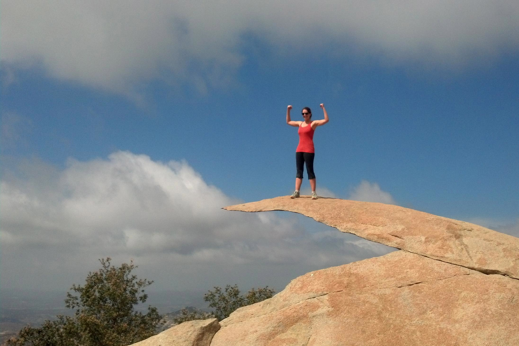 Potato Chip Rock is a famous hiking spot in San Diego