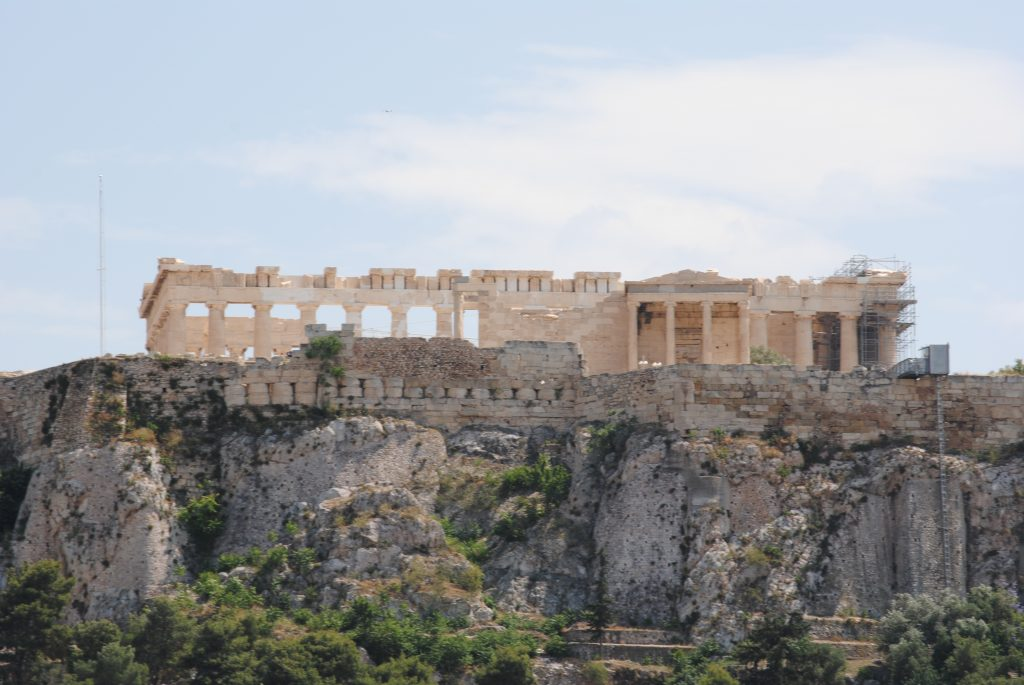 You can see the Parthenon from all over Athens, Greece