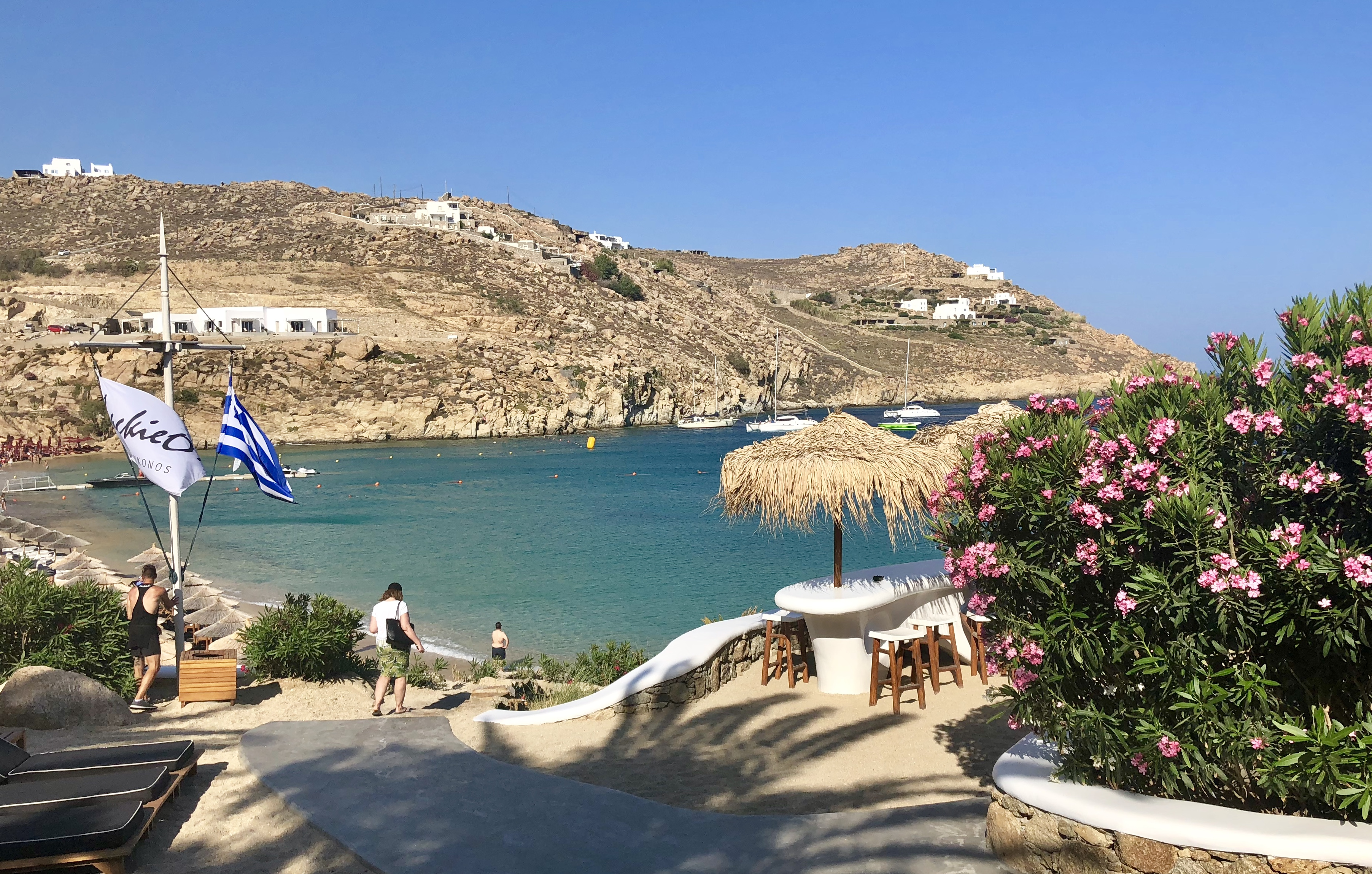 View from Jackie O's in Super Paradise, Mykonos