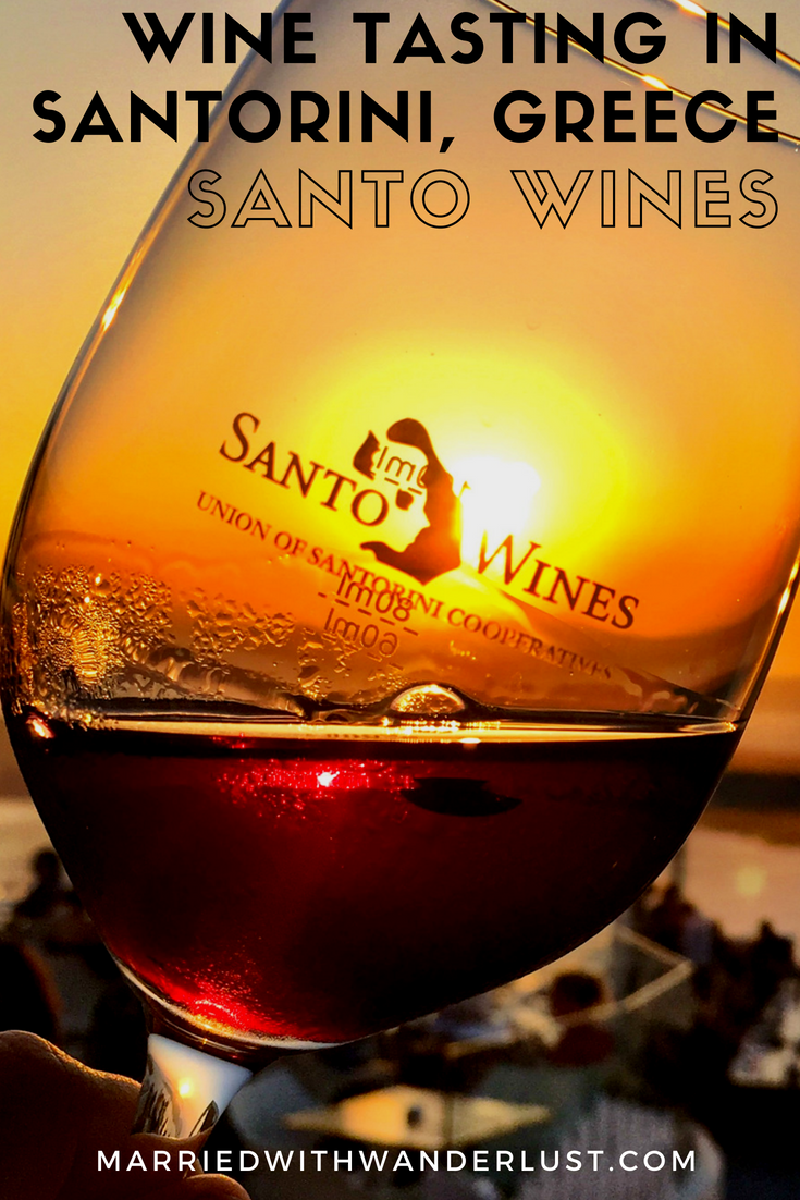 Review of the Wine Tasting in Santorini, Greece at Santo Wines