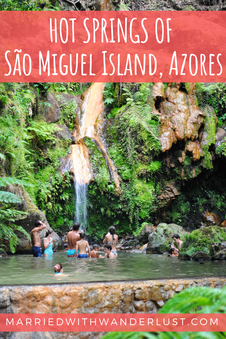 Hot springs in the Azores: São Miguel Island,