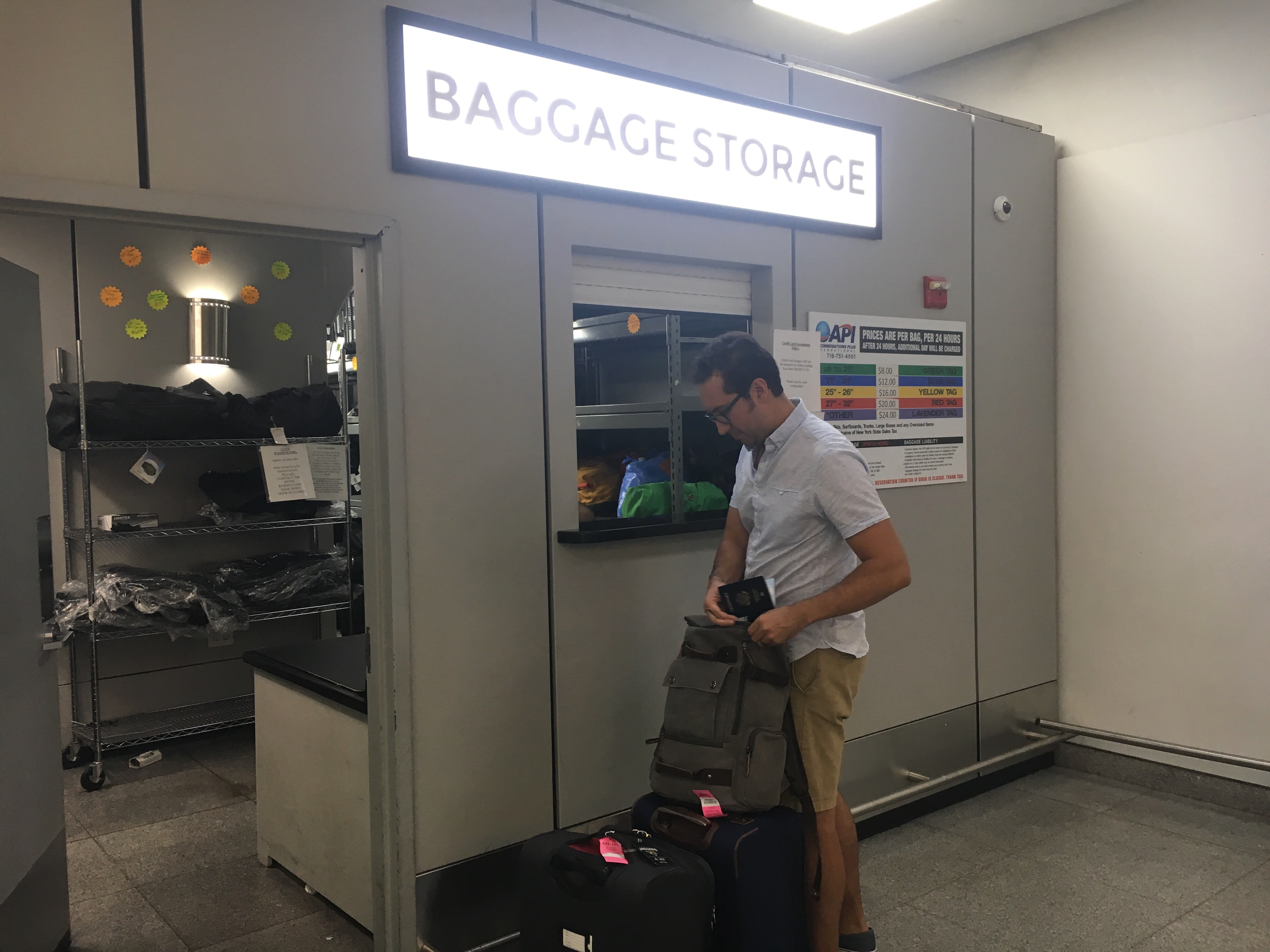 Layover in NYC? Use the baggage storage facility at JFK airport