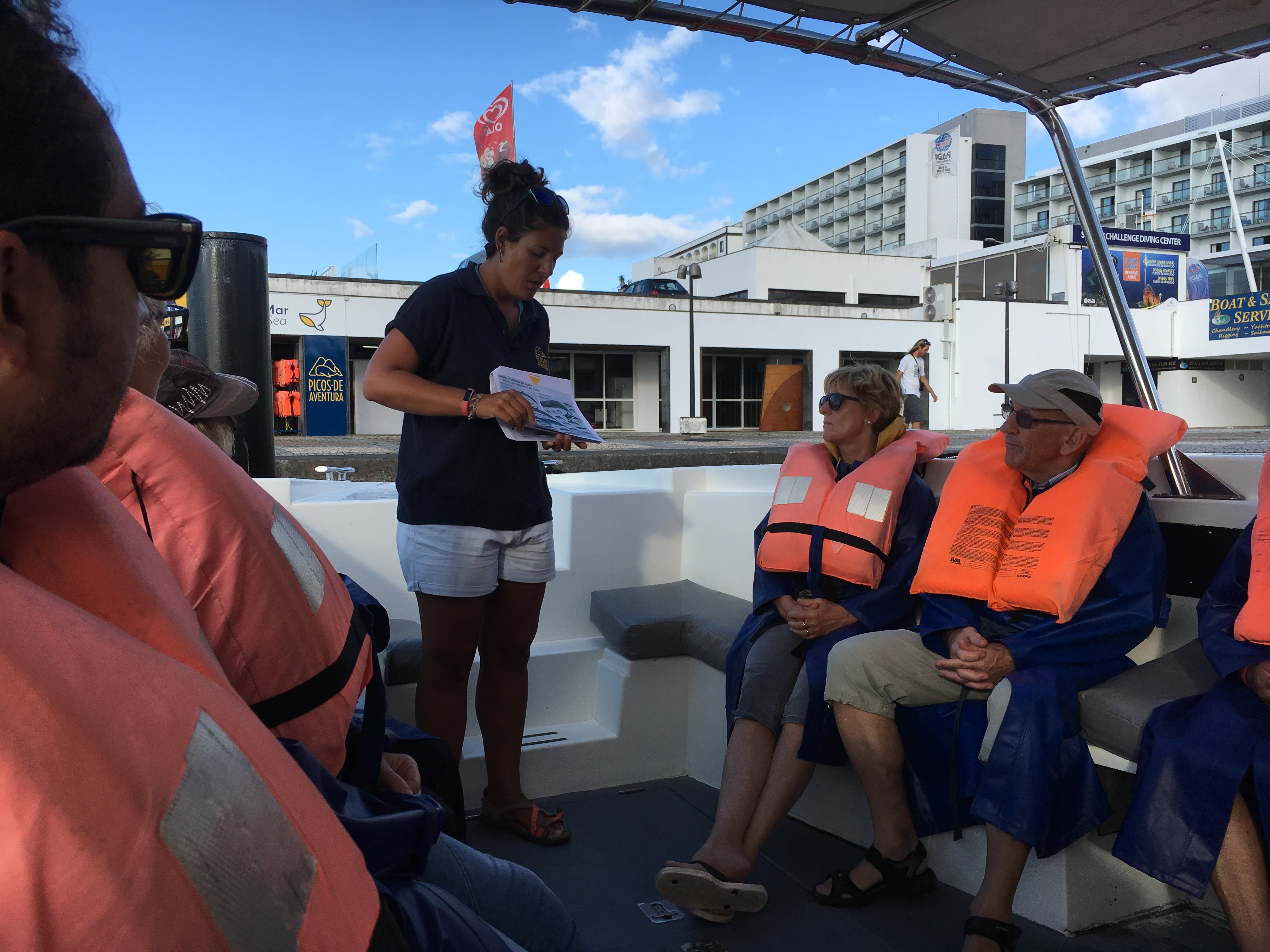 Picos de Aventura provides a briefing before the whale watching tour