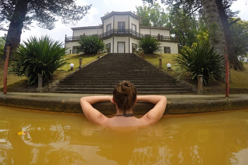 Hot springs at Terra Nostra Hotel in Furnas, Azores