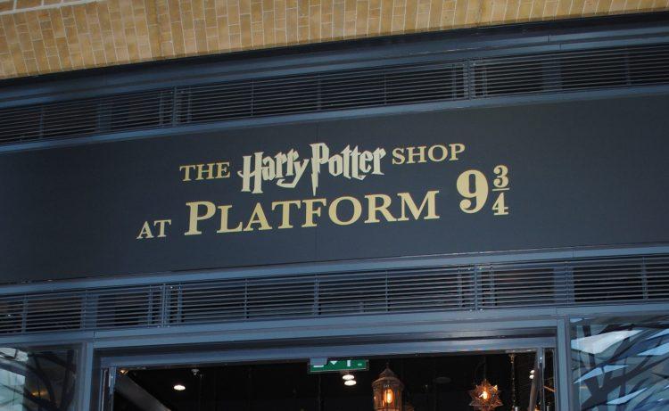 The Harry Potter shop at Platform 9 3/4
