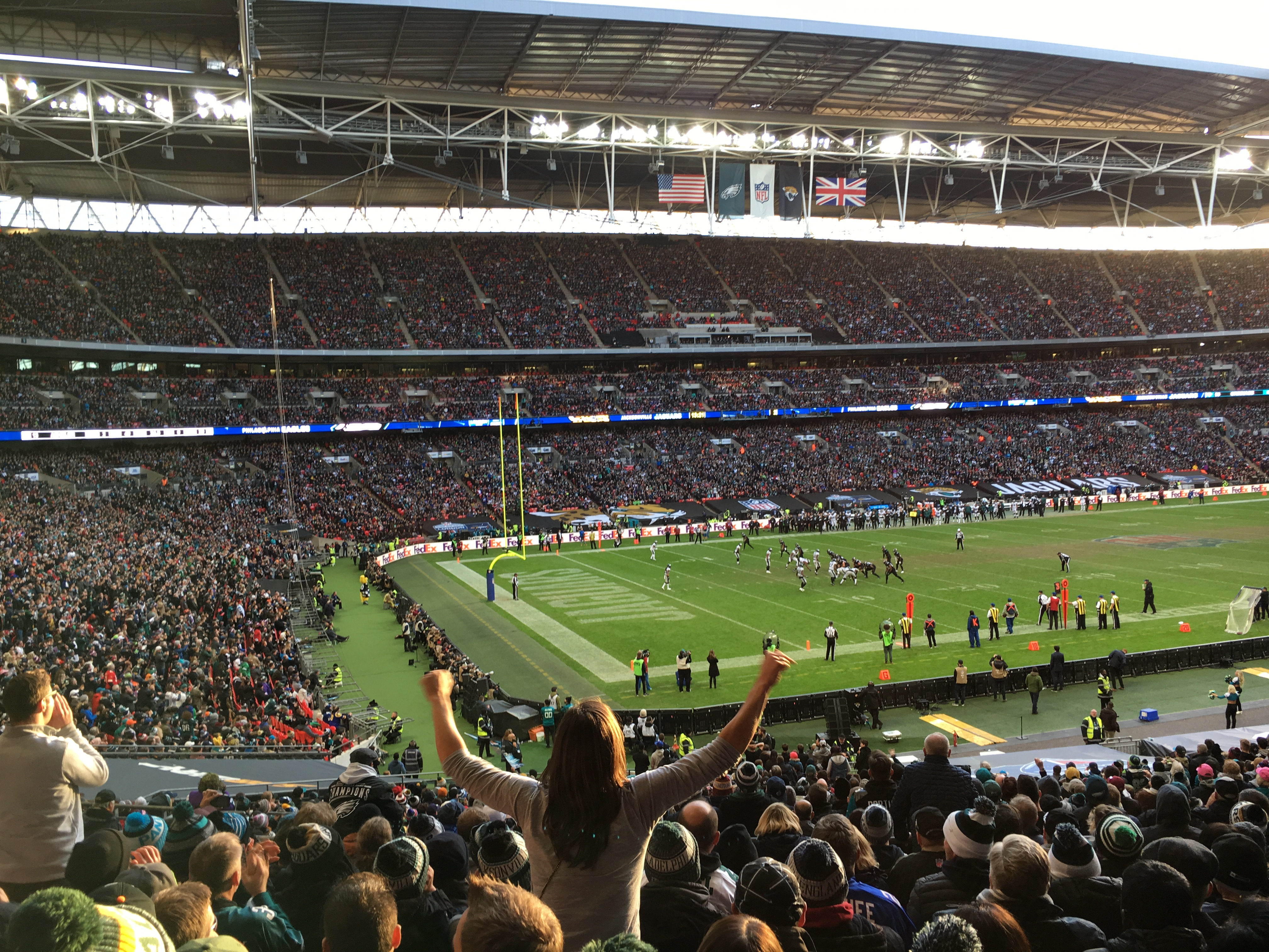 Watching an NFL game in London