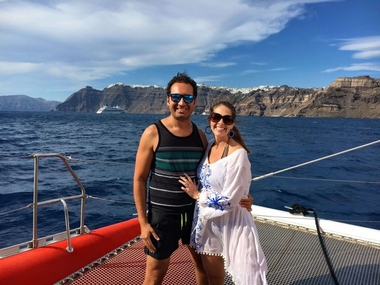 Sunset cruise with Santorini Sailing